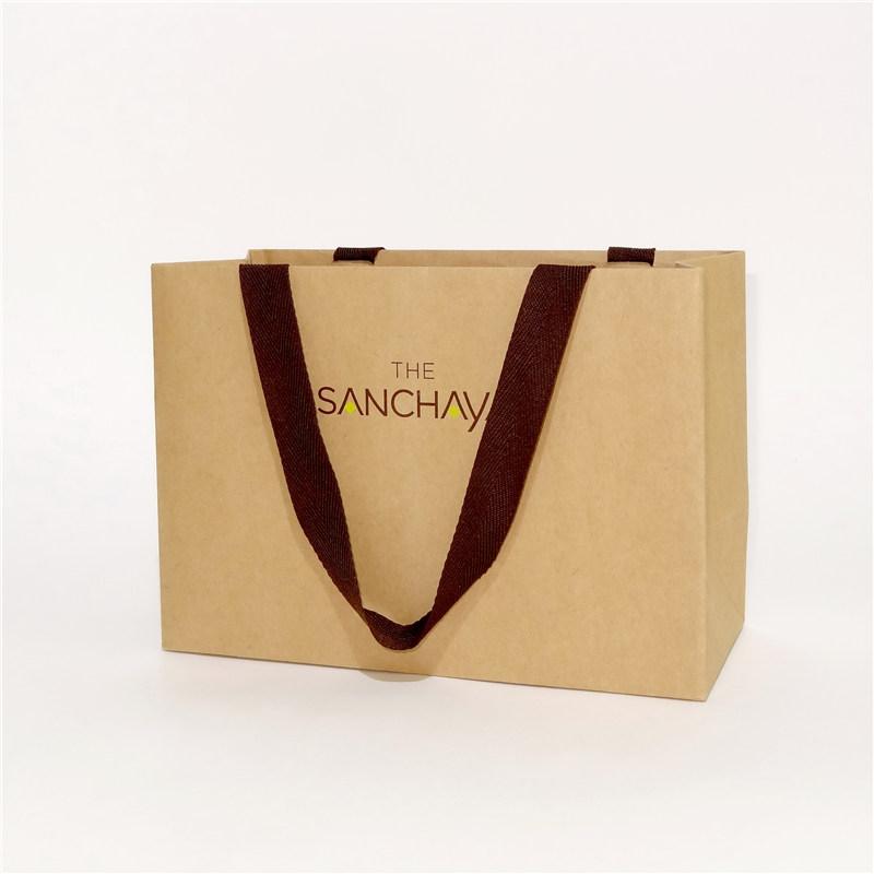 手工纸袋提手为布制