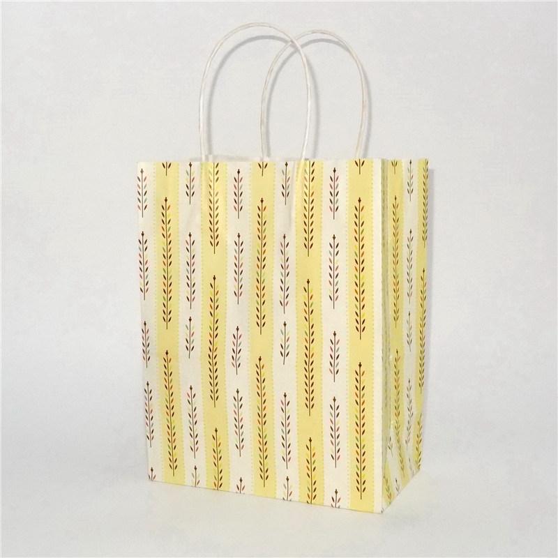白色牛皮纸袋麦穗条纹系列
