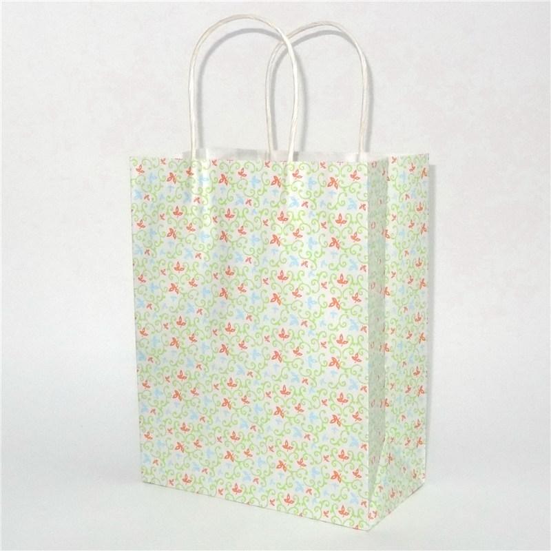 白色牛皮纸袋雪纺花纹系列