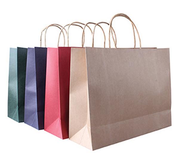 纯色牛皮纸袋各类颜色定制