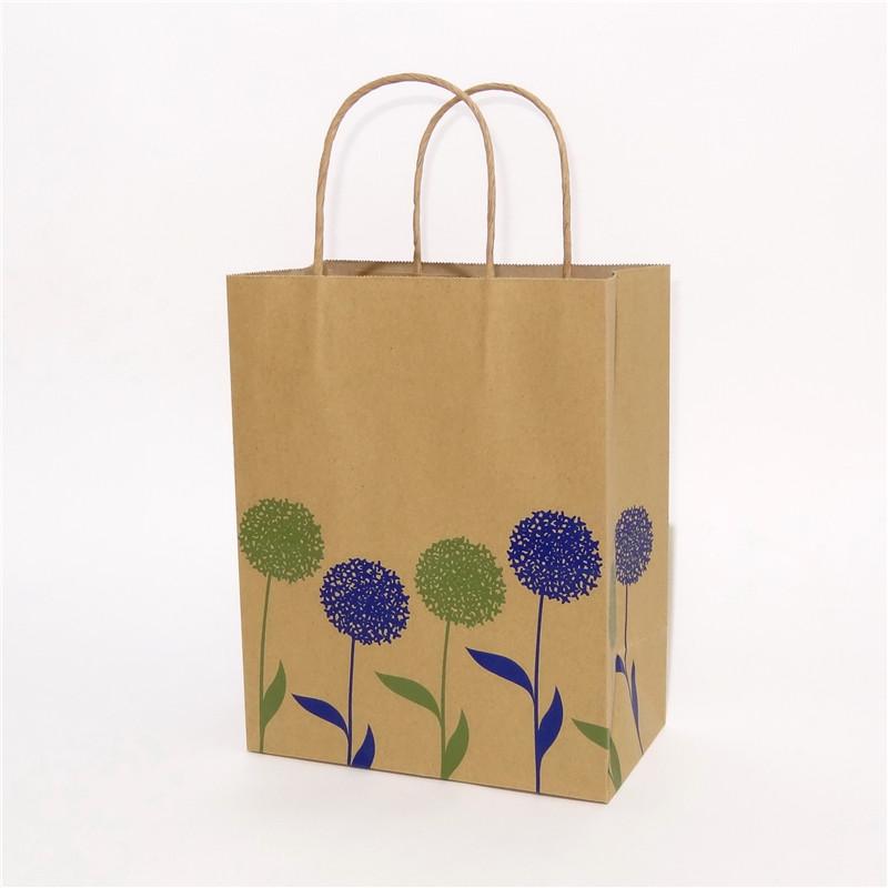 本色牛皮纸袋带花纹系列